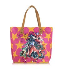 Vivienne Westwood - Metallic Printed Leather Tote Bag - Lyst