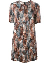 Marni - Multicolor Abstract Print Shift Dress - Lyst