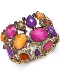 Style & Co. | Metallic Gold-tone Multicolor Bold Stone Bracelet | Lyst