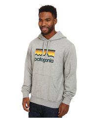 Patagonia | Gray Line Logo Midweight P/o Hooded Sweatshirt for Men | Lyst