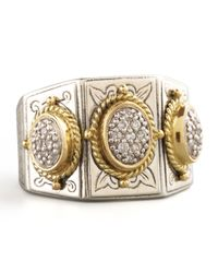 Konstantino | Metallic Three-stone Pave Ring | Lyst