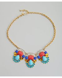 Kenneth Jay Lane | Metallic Gold And Crystal Statement Necklace | Lyst