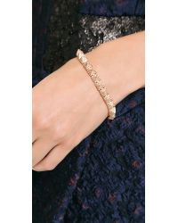 Eddie Borgo | Metallic Pave Small Pyramid Bracelet | Lyst
