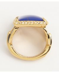 Rachel Zoe | Blue Gold And Lapis Square Ring | Lyst
