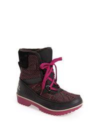 Sorel | Black 'tivoli Ii' Waterproof Blanket Boot | Lyst