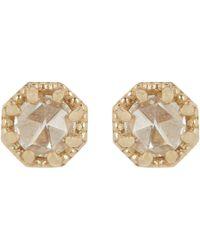 Grace Lee - Metallic Petite Crown Bezel Diamond Studs - Lyst