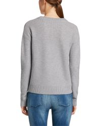 HUGO | Gray New-wool Blend Sweater In A Chunky Knit: 'starly' | Lyst