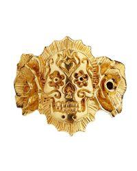 Zoe & Morgan - Metallic Zoe  Morgan Exclusive For Asos Mexican Skull with Roses Ring - Lyst