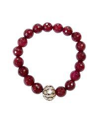 CB Bronfman | Red Garnet Diamond Bracelet | Lyst