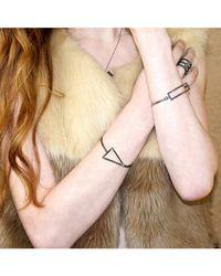 Adornia | Metallic Champagne Diamond Bowery Bracelet | Lyst