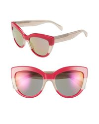 Marc By Marc Jacobs | Pink 53mm Cat Eye Sunglasses | Lyst