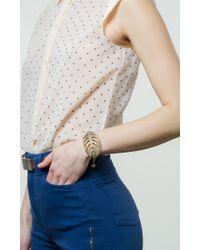 Lulu Frost - Brown Goldtone Drift Bracelet - Lyst