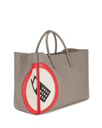 Anya Hindmarch - Gray Ebury Maxi No Mobile Tote Bag - Lyst