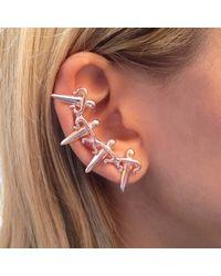 Leivan Kash - Pink Dagger Ear Cuff Rose - Lyst
