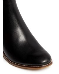 Cole Haan - Black 'abbot' Dual Cutout Leather Ankle Boots - Lyst