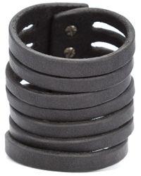 Rick Owens   Black Multi Strand Bracelet   Lyst