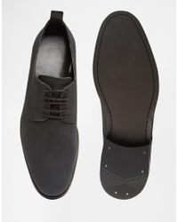 ASOS - Derby Shoes In Black Leather for Men - Lyst
