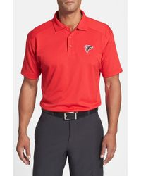 Cutter & Buck | Red Atlanta Falcons - Genre Drytec Moisture-Wicking Polo Shirt for Men | Lyst