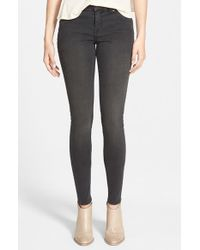 Volcom - Gray 'liberator' Denim Leggings - Lyst