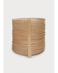 Bebe | Metallic Textured Cuff Bracelet | Lyst