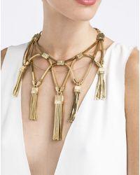 Lanvin - Metallic Tassel Necklace - Lyst