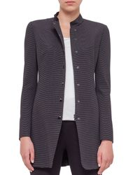 Akris Punto - Gray Ribbed Stretch-Jersey Jacket  - Lyst