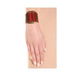 Chloé - Pink Drew Leather Bracelet - Lyst