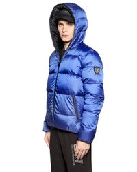 EA7 - Blue Total Zip-Up Nylon Ripstop Down Jacket for Men - Lyst