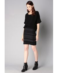Ichi - Black Mini Skirt - Lyst