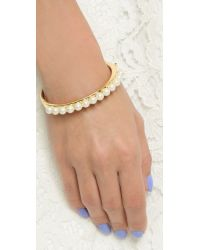 kate spade new york - Natural Pearly Delight Bangle Bracelet - Cream Multi - Lyst