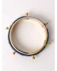 J.W.Anderson - Blue Tartan Single Bolt Horn Bracelet - Last One - Lyst