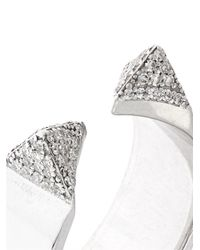 Ileana Makri - Metallic White-Gold & White-Diamond Pyramid Ring - Lyst