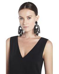BCBGMAXAZRIA | Black Oversized Rhinestone Cocktail Earrings | Lyst