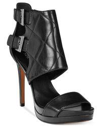 Nine West | Black Brakedance Platform Dress Sandals | Lyst