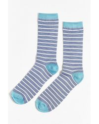 Urban Outfitters - Blue Lightweight Thin Stripe Sock for Men - Lyst