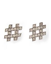Kelly Wearstler - Metallic 'hashtag' Earrings - Lyst