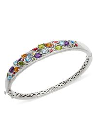 Lord & Taylor | Metallic Sterling Silver And Multi Stone Bangle Bracelet | Lyst