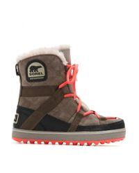 Sorel - Gray Glacy Explorer Shortie Suede Boots - Lyst