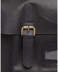 ASOS - Black Leather Satchel Backpack for Men - Lyst