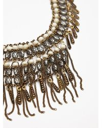 Free People - Natural Womens Bonfire Fringe Collar - Lyst