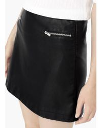 Mango | Black Decorative Zip Skirt | Lyst