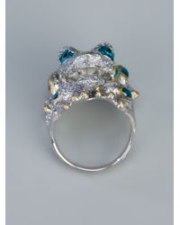 Delfina Delettrez - Blue Chunky Frog Ring - Lyst