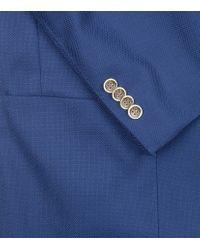 Peter Millar - Blue Textured Wool Blazer for Men - Lyst