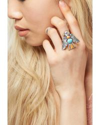 Forever 21 - Blue Peyote Bird Turquoise Thunderbird Ring - Lyst