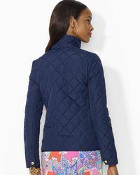 Ralph Lauren - Blue Lauren Petites Snap Front Quilted Jacket - Lyst