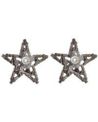 Vickisarge - Metallic Silver Little Cutie Star Earrings - Lyst