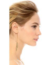 Jacquie Aiche - Metallic Ja Feather Ear Thread Earring - Lyst