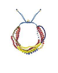 BCBGMAXAZRIA | Multicolor Multistrand Beaded Bracelet | Lyst