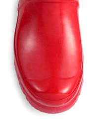 HUNTER - Red Gloss-Finish Original Rain Boots - Lyst