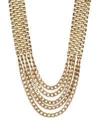 Panacea | Metallic Multi Row Chain Link Necklace | Lyst
